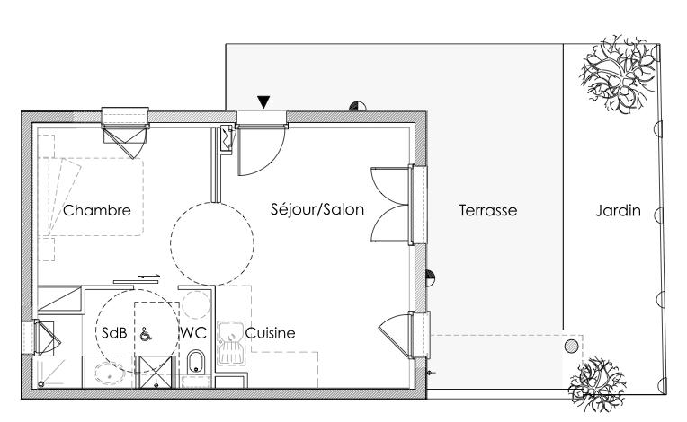 plan appartement 1 piece